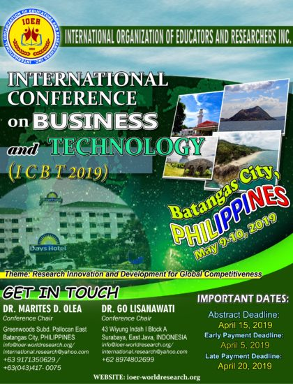 Invitation poster - ICBT 2019